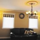 カナダの照明器具が美しいリビングルーム
